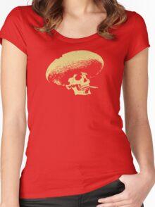 Sombrero de los Muertos - tan Women's Fitted Scoop T-Shirt