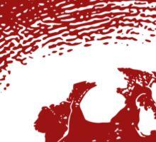 Sombrero de los Muertos - red Sticker