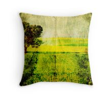 The Canola Field Throw Pillow