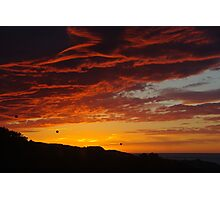 Winter sunrise, clouds aflame Photographic Print