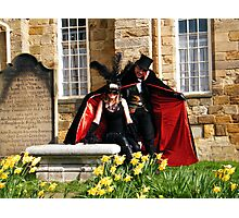 The Count and Victim Photographic Print