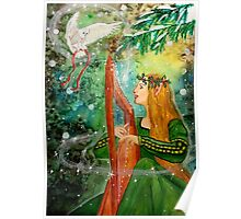 Gifts Give, Gifts Returned - Elf Maiden Harp Player Poster