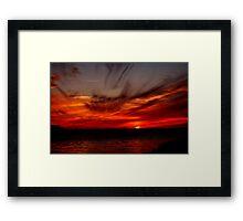SKY FIRE SUNSET Framed Print