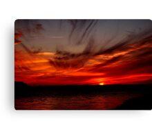 SKY FIRE SUNSET Canvas Print