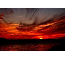 SKY FIRE SUNSET Photographic Print