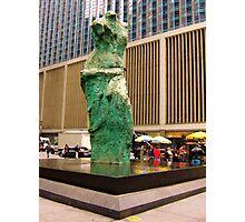 Lady Statue Photographic Print