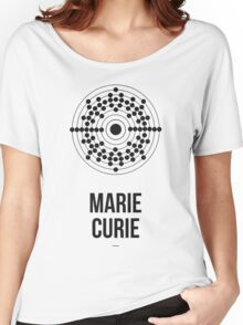 Marie Curie (Dark Lettering) - Clothing & Other Products Women's Relaxed Fit T-Shirt