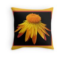 Straw Majestic - with frame Throw Pillow