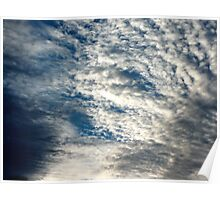 cotton wool clouds Poster