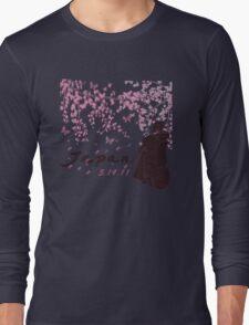 Japan Earthquake Tsunami Relief Cherry Blossoms Long Sleeve T-Shirt
