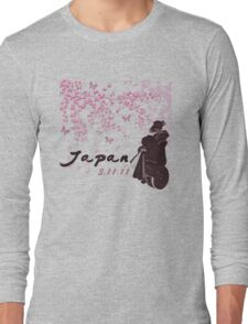 Japan Earthquake Tsunami Relief Cherry Blossoms Long Sleeve T-Shirt