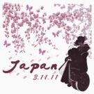 Japan Earthquake Tsunami Relief Cherry Blossoms Dark T-Shirt by Linda Allan