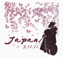 Japan Earthquake Tsunami Relief Cherry Blossoms Dark T-Shirt by Linda Allan