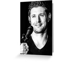 Jensen Black and White with Mic Greeting Card