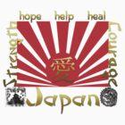 Japan Earthquake Tsunami Relief Rising Sun T-Shirt by Linda Allan