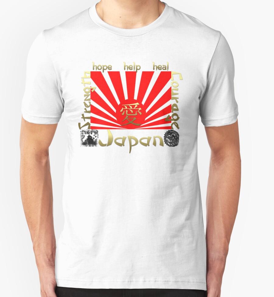 Japan earthquake tsunami relief rising sun t shirt t for Sun t shirts sunland california