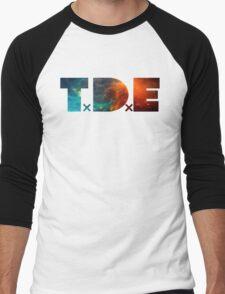 TDE TOP DAWG BLUE AND ORANGE NEBULA Men's Baseball ¾ T-Shirt