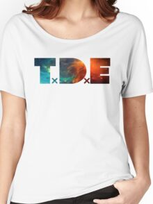 TDE TOP DAWG BLUE AND ORANGE NEBULA Women's Relaxed Fit T-Shirt