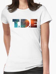 TDE TOP DAWG BLUE AND ORANGE NEBULA Womens Fitted T-Shirt