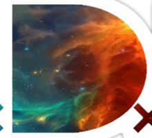TDE TOP DAWG BLUE AND ORANGE NEBULA Sticker