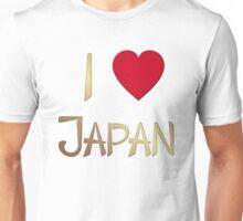 I Love Japan Gold T-Shirt Unisex T-Shirt