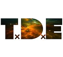 TDE TOP DAWG ORANGE GOLD GREEN BLUE NEBULA DARK by SourKid