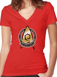 Red Shirt Respect (In Harm's Way) Women's Fitted V-Neck T-Shirt