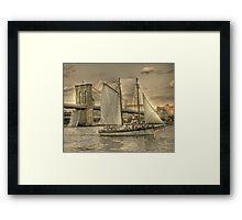 Sailing the East River Framed Print