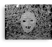 Glass face with sculptured glass Canvas Print
