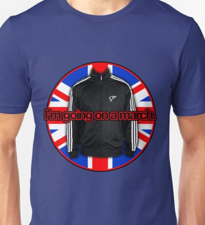I'm going on a march - UK Flag Unisex T-Shirt