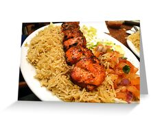 Zesty Chicken Tikka - At Bamiyan Kabab  Greeting Card