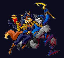Sly and Carmelita - Opposite's Attract  by MissPyropixie