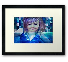 raspberry drink made her head swim Framed Print