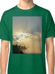 Sunset behind clouds Classic T-Shirt