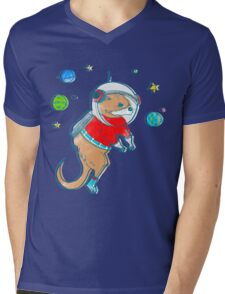 Otter Space  Mens V-Neck T-Shirt