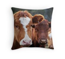 Mooove Over... I Got Here First! Throw Pillow