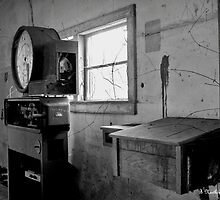Old Weigh Scale in abandoned Farmer's Market shed by Betty Northcutt