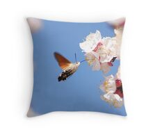 hawk-moth i like it more Throw Pillow