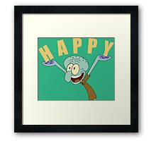 HAPPY (Squidward Tentacles) Framed Print