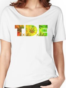 TDE TOP DAWG RASTAFARIAN RED YELLOW GREEN WEED Women's Relaxed Fit T-Shirt