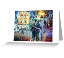 Leonid Afremov Rain Greeting Card