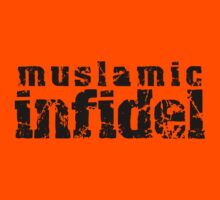 'Muslamic Infidel' Stencil (Black) by alexvegas