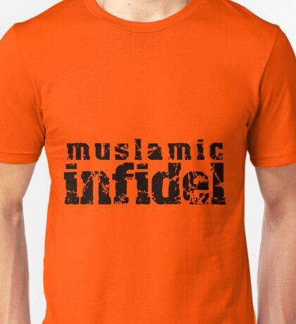 'Muslamic Infidel' Stencil (Black) Unisex T-Shirt