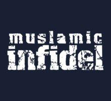'Muslamic Infidel' Stencil (White) by alexvegas
