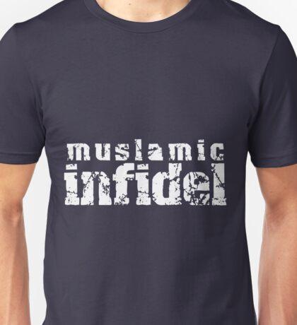 'Muslamic Infidel' Stencil (White) Unisex T-Shirt