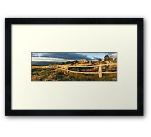 Craig's Hut Autumn Sunset, Australia Framed Print