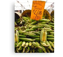 Corn Canvas Print