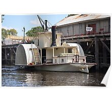 Paddlesteamer at Echuca Wharf Poster