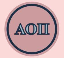 Alpha Omicron Pi Letters Kids Clothes