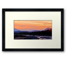 Quill Creek Sunrise Framed Print